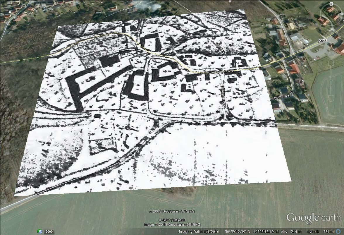 1802 map superimposed on to a 2009 aerial photo.
