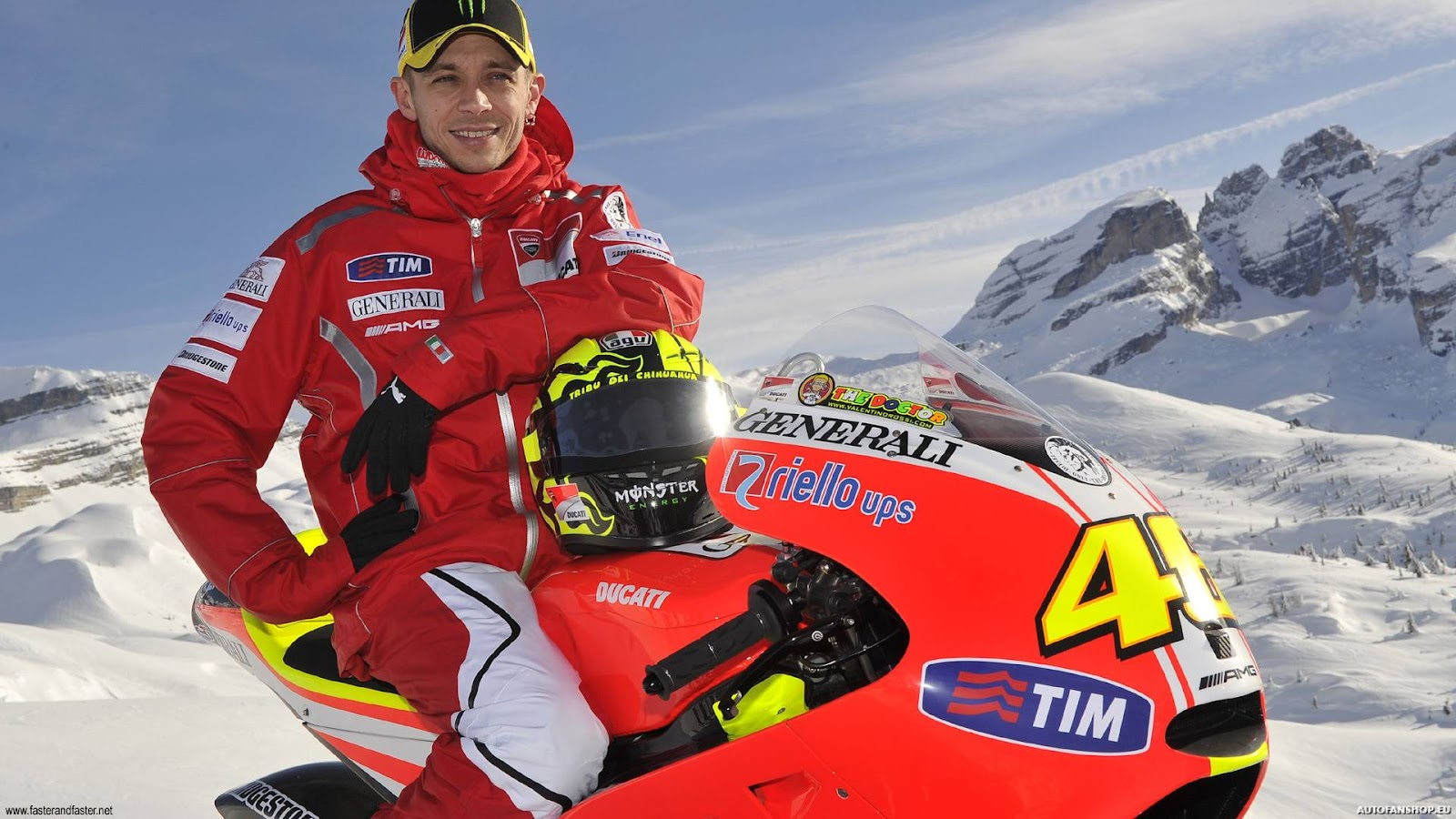 valentino rossi in snow Valentino Rossi wallpapers in HD