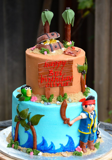 jake and the neverland pirates tiered cake - photo #13