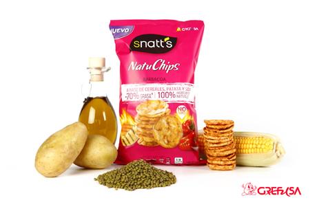 Snatts Natuchips de Grefusa: mas sabor, menos grasas