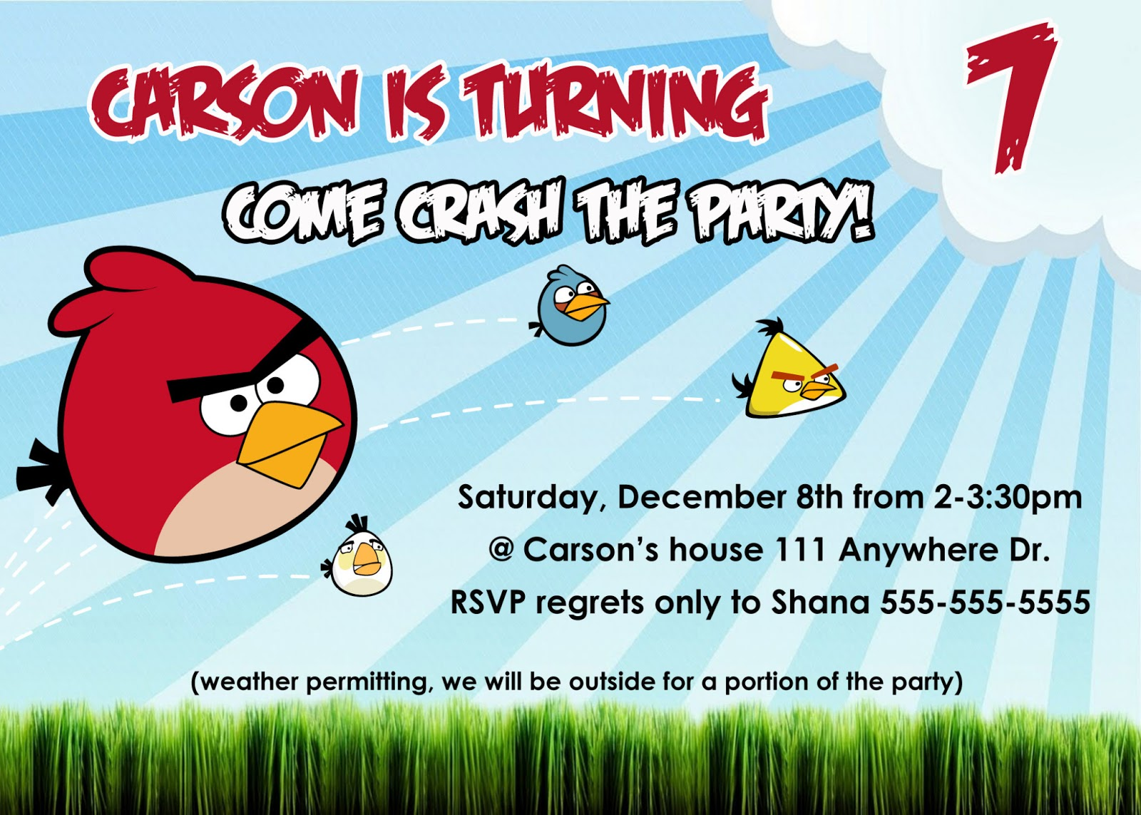 Shana whipple photography angry birds birthday party for Angry birds birthday party invitation template free