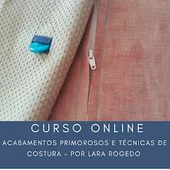 Curso online de Acabamentos primorosos e técnicas de costura