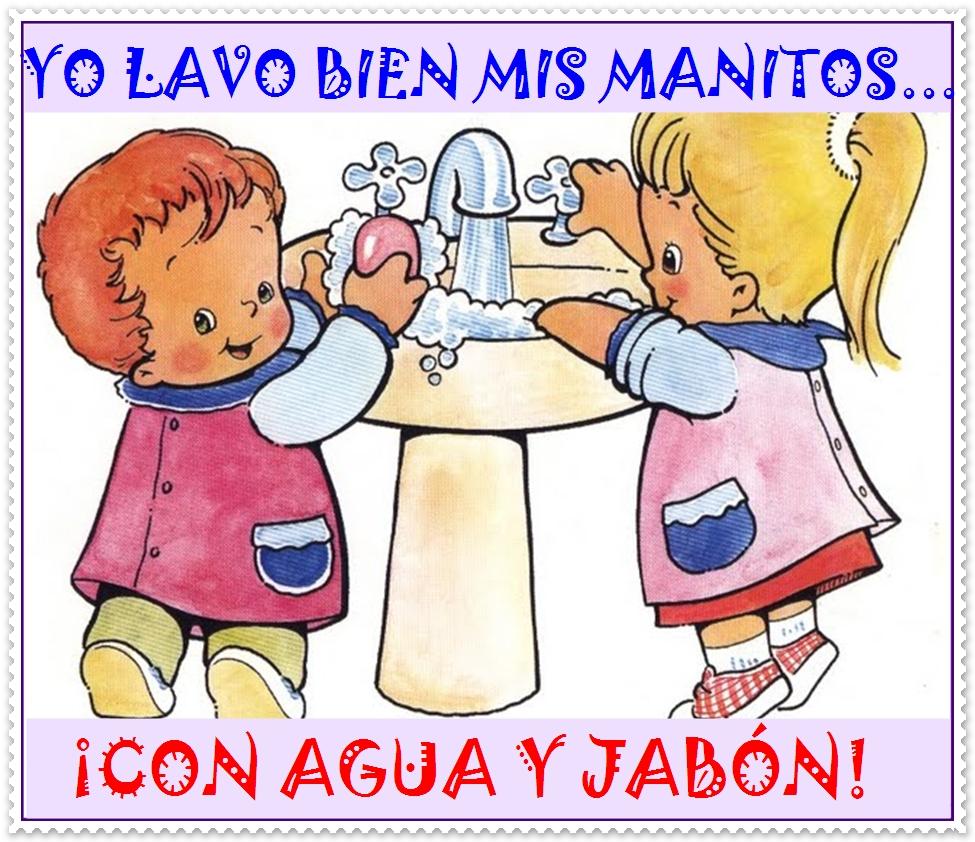 Imágenes de lavado de manos para niños - Imagui