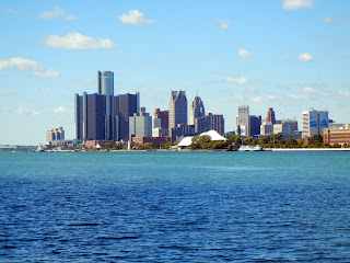 View of downtown Detroit, Michigan from Belle Isle