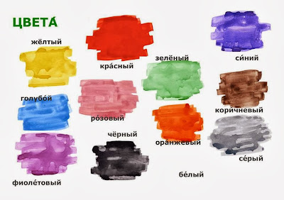 how to say colors in Russian.