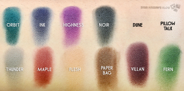 swatches of the palette