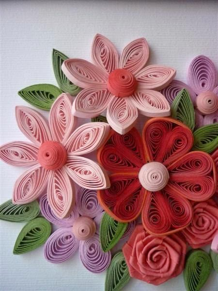 Quilling art home decor quilling for Decoration quilling