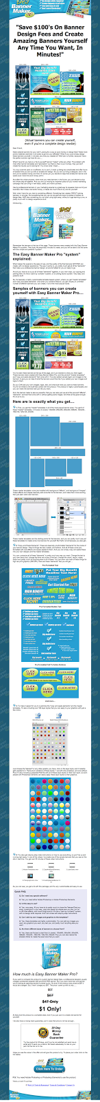 Easy Banner Maker Pro V1 Sales Page
