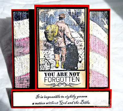 For the Love of Patriotism and Service - Stamps Our Daily Bread Designs Old Flag Background, Not Forgotten, God Bless America