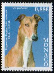 2008年モナコ公国 グレーハウンドの切手
