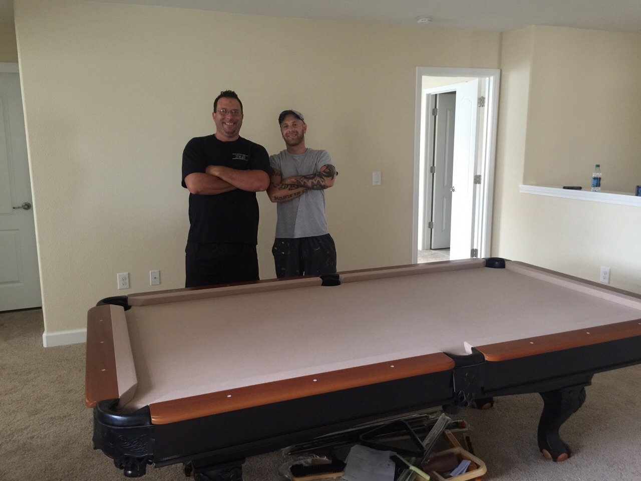 Professional Assembly Services Blog - How to move a pool table upstairs