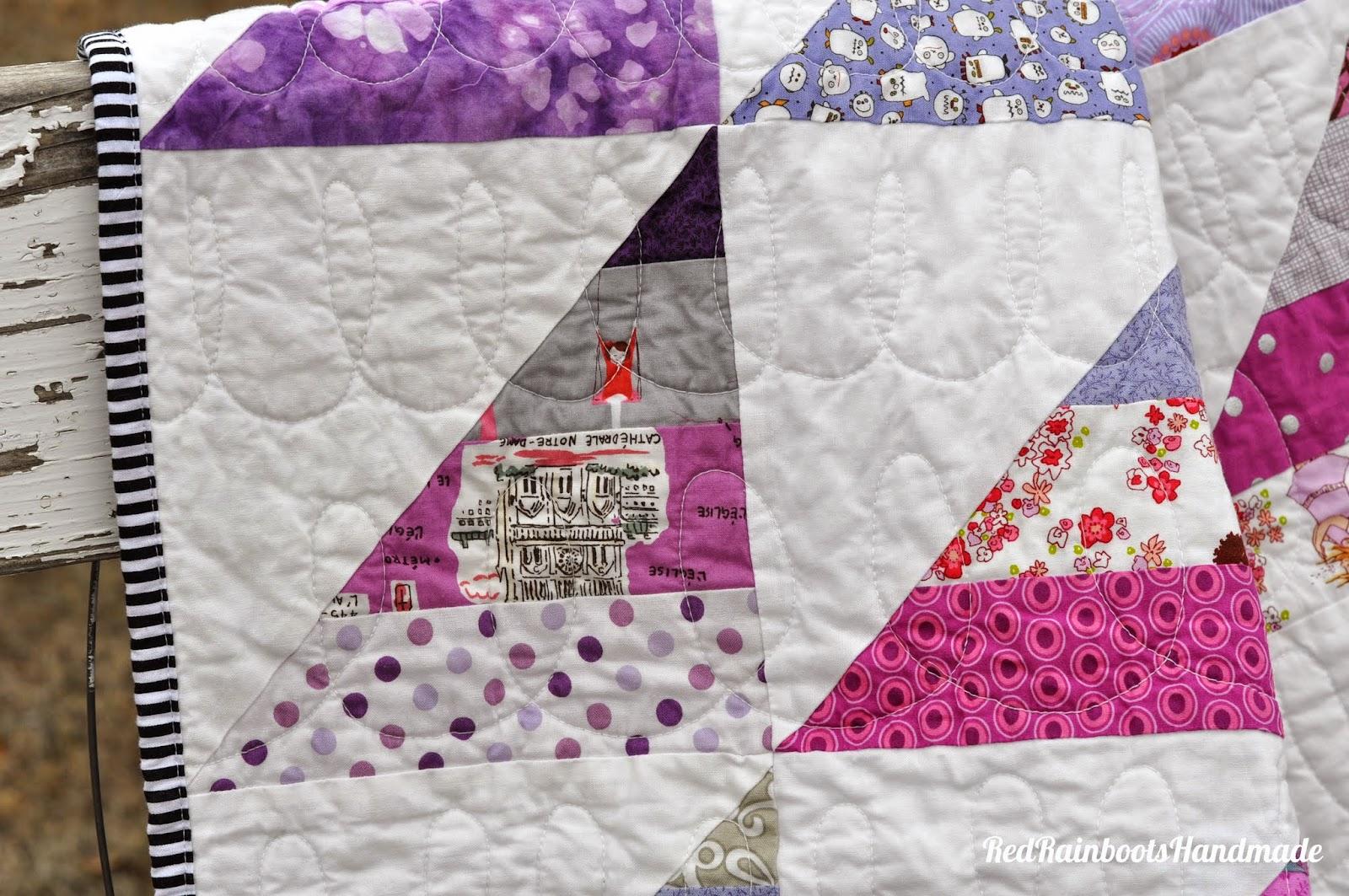Quilt Patterns Using 6 Strips : Red Rainboots Handmade: Easy HST Strip Quilt {tutorial}