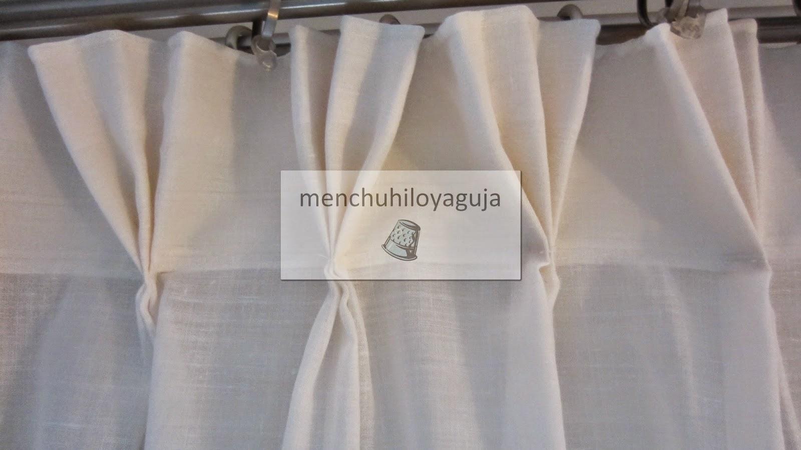 Patrones de costura visillos o cortinas con pinza for Como poner ganchos de cortinas