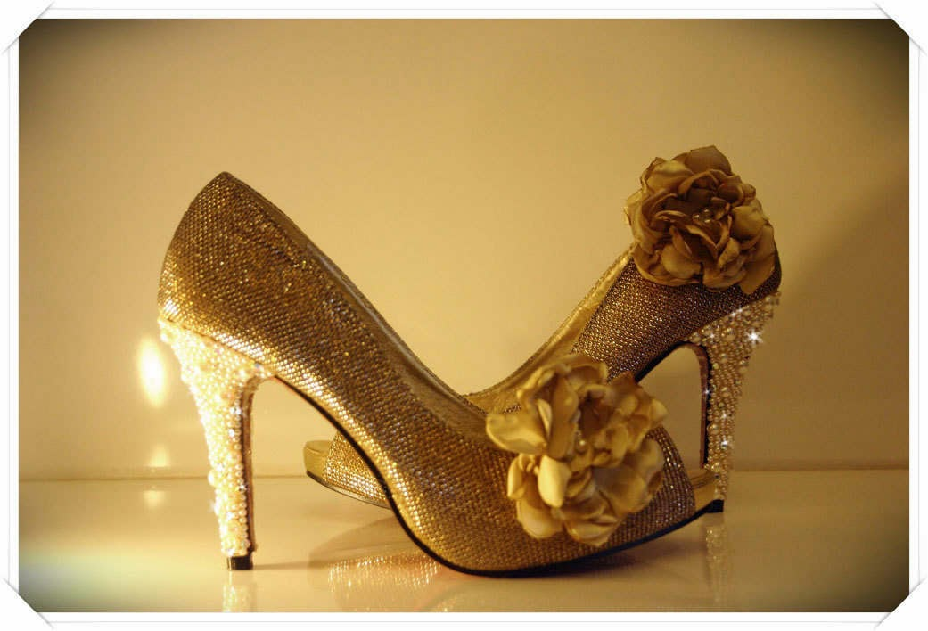Yellow Gold Wedding Shoes Now in Gold Wedding Shoes