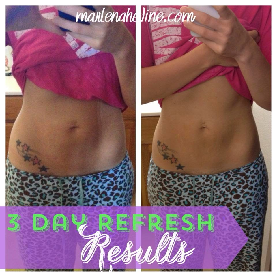 3 day refresh results and meal plan