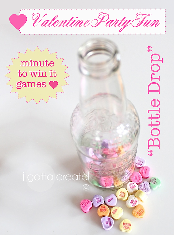 bottle drop minute to win it valentine game - Valentine Minute To Win It Games