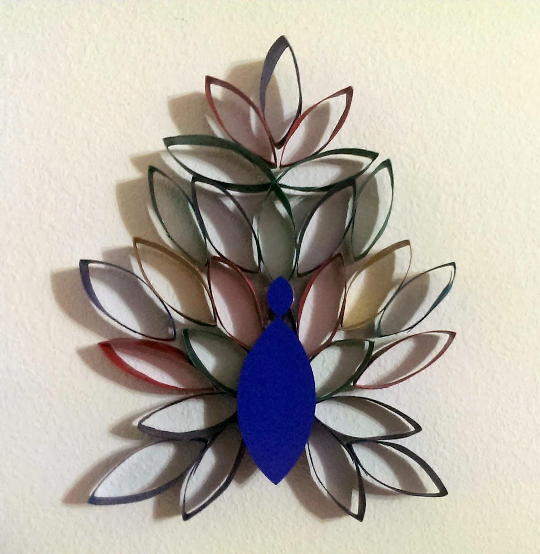 Peacock paper art - photo#25