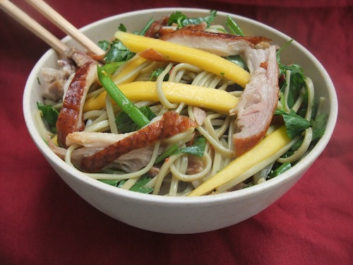Duck and Mango Soba Salad