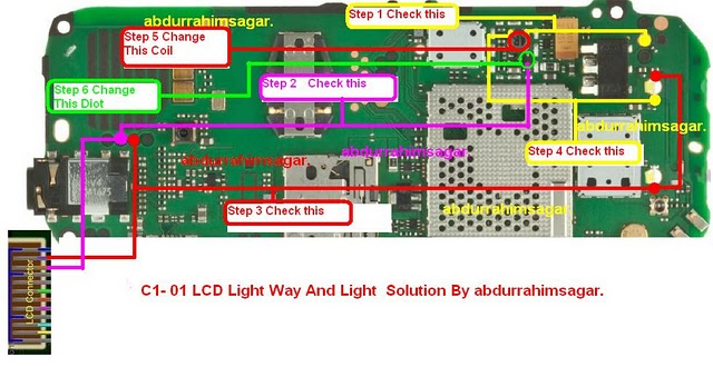 c1 01 lcd light c1 01 charging solusi c1 01 ic bt c1 01 ringer spk ...