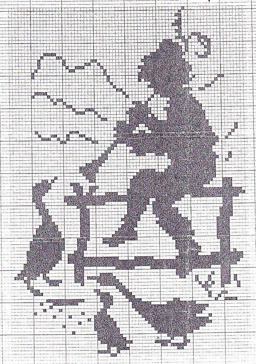 Черно белые схемы для цветных вышивок