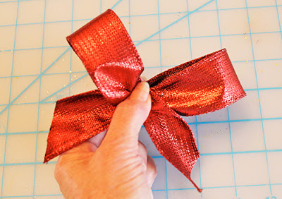 how to make a bow for your christmas tree