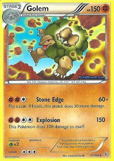 Golem Flashfire Pokemon Card
