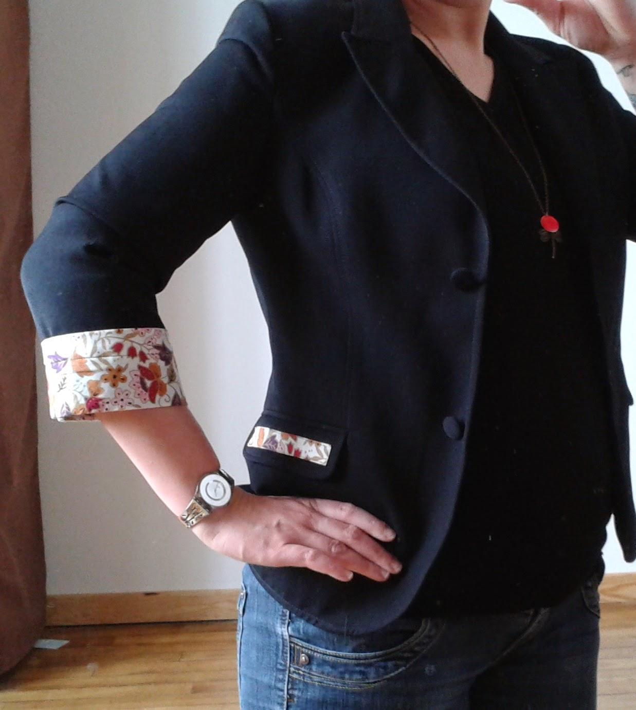 julie  du fil et son aiguille  veste customis u00e9e