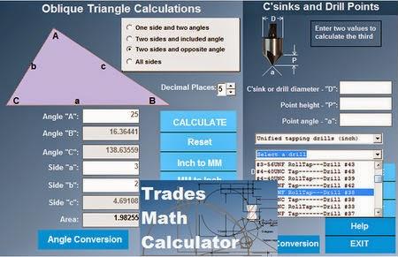 Trades Math Calculator v2.01a Image