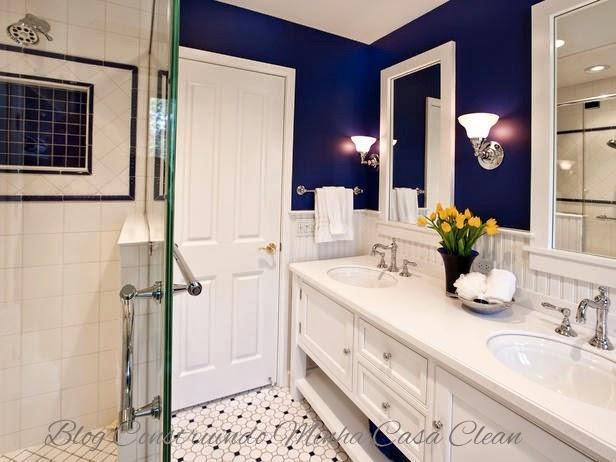 Master Bathroom Ideas Blue : Construindo minha casa clean decora??o em estilo navy
