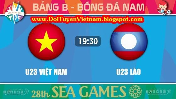 Trực tiếp SEA Games 28: U23 Việt Nam Vs U23 Lào - 04/06/2015