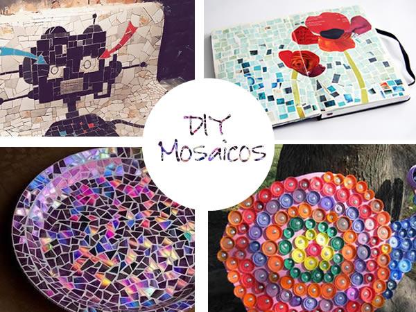 Manualidades hacer mosaicos materiales e ideas - Trabajos caseros para hacer en casa ...