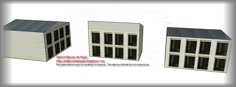 New façade for the the Steel Plant paper model