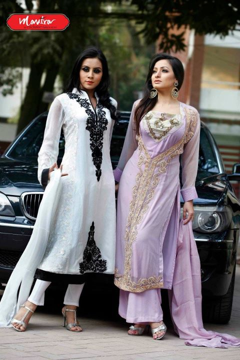 Mantra Party Wear Dresses Long Frock Fashion 2012