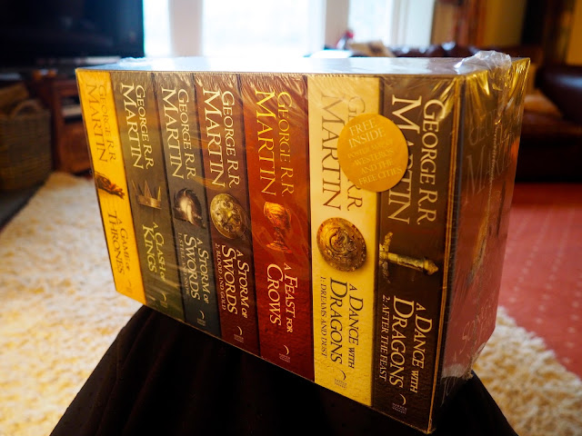 Christmas gift of the A Song of Ice and Fire books box set (Game of Thrones)