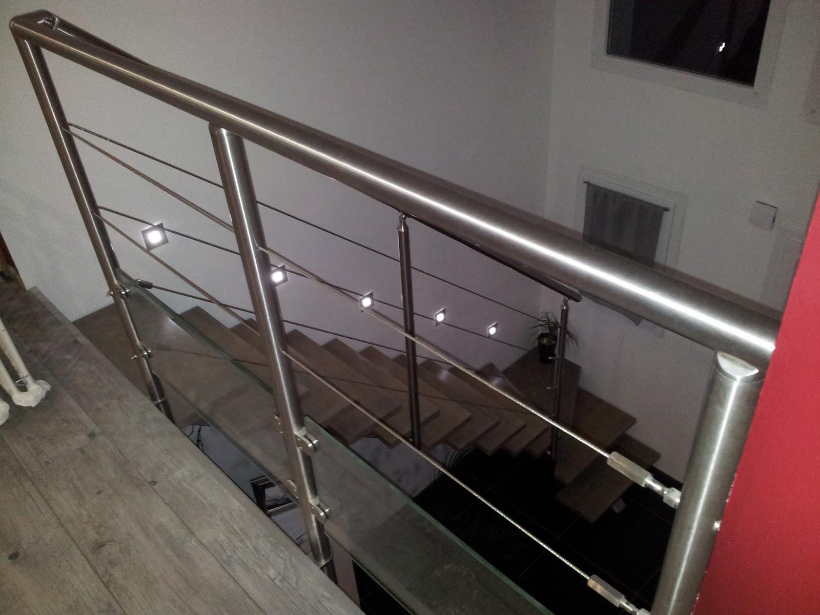 Bricolage de l 39 id e la r alisation escalier contemporain - Construire garde corps ...