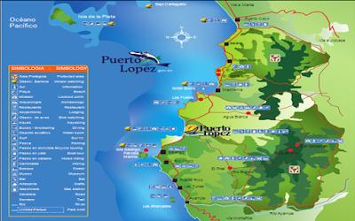mapa-Guía turística completa de la ciudad de Puerto López