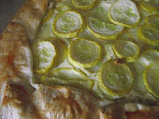 squash galette fresh from the oven