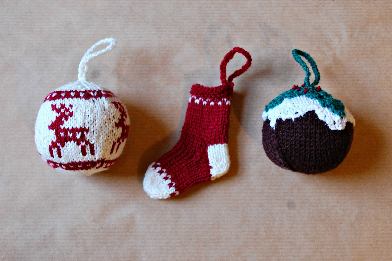the geeky knitter: fo: knitted christmas decorations