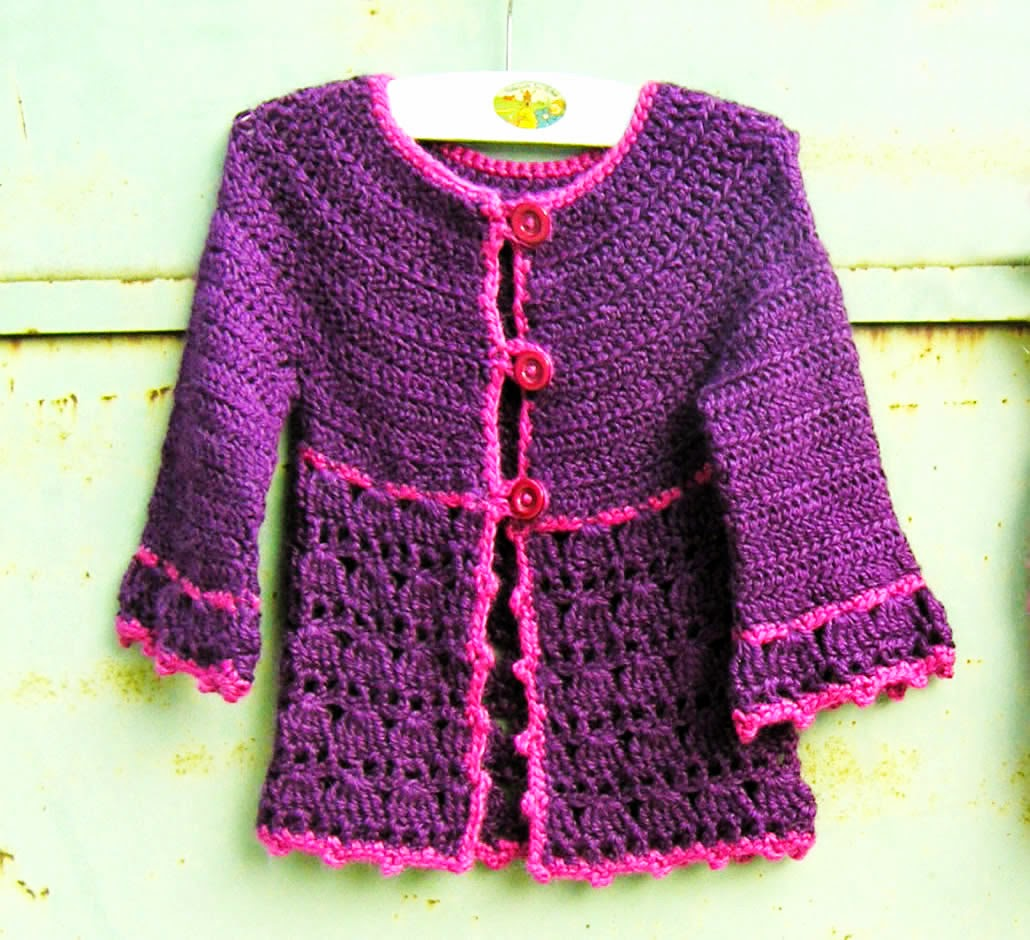 Berühmt Patron Gilet Fille Au Crochet - Cashmere Sweater England KY87
