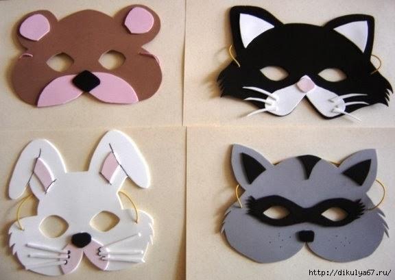 Как самому сделать маску животного