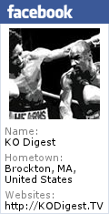 Visit KO Digest on Facebook Up to the Minute Insider Boxing News & Information