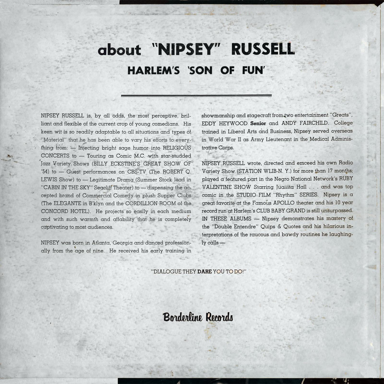 Nipsey Russell - Harlem's
