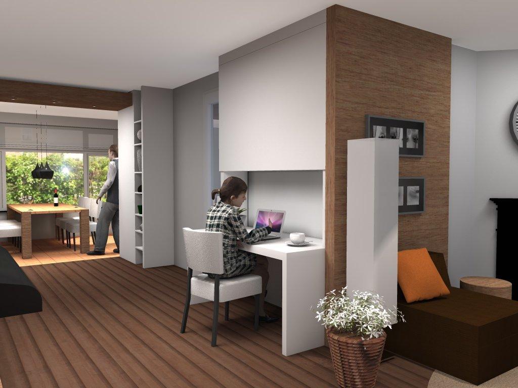 Bureau in woonkamer in nis | Home ideas | Pinterest