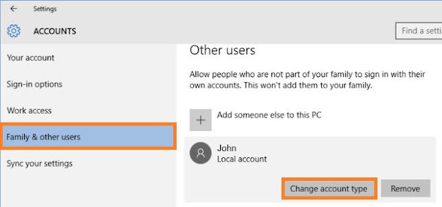 How to Change account type To Admin Account In Windows 10
