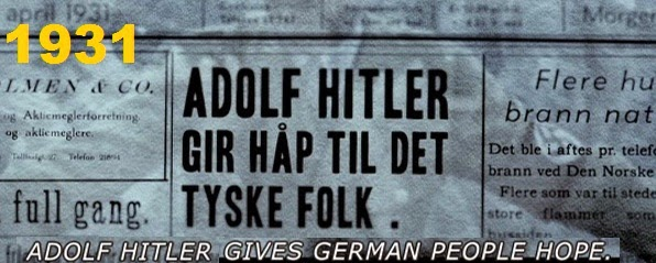 1931: Adolph Hitler gives German people hope.