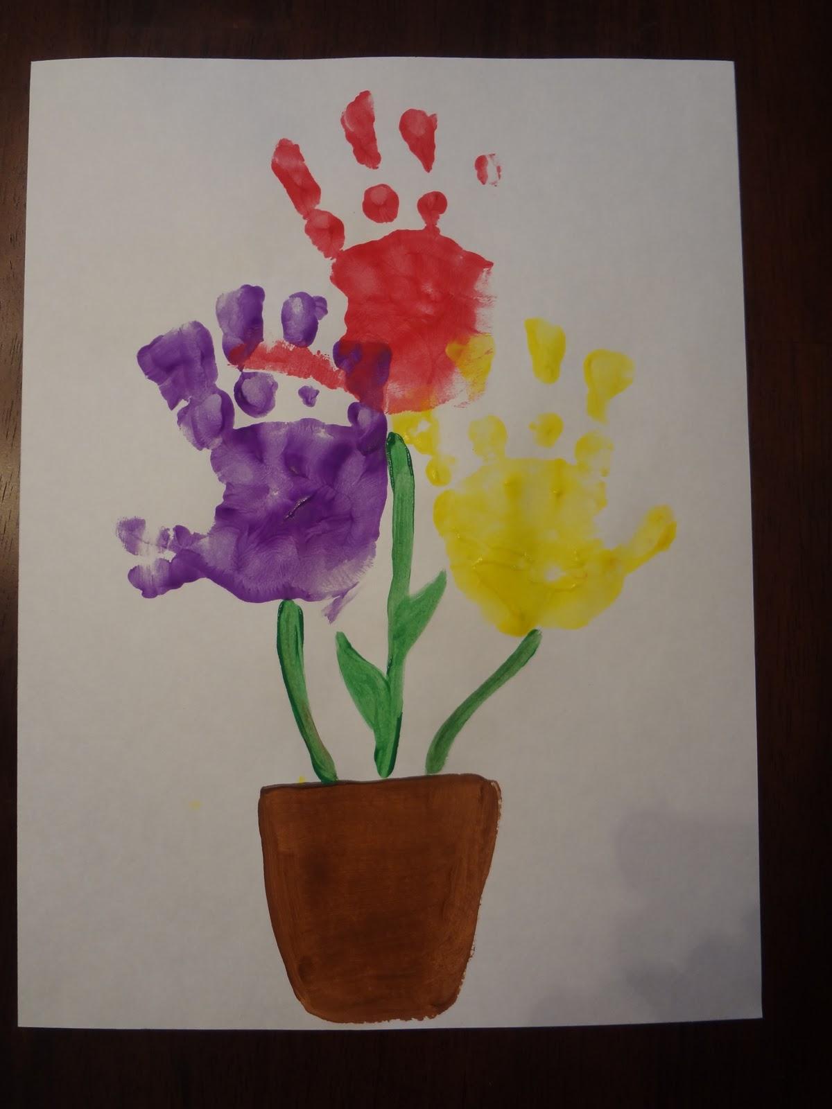 Not so crafty mama hand print bouquet not so crafty mama izmirmasajfo