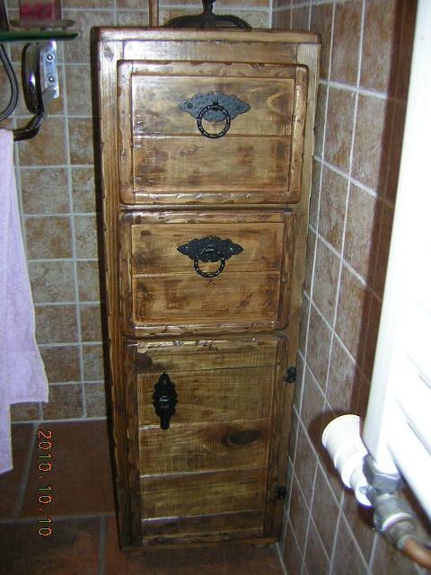 Madera Estilo Rustico Mueble Ba O Rustico
