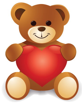 Love teddy and heart