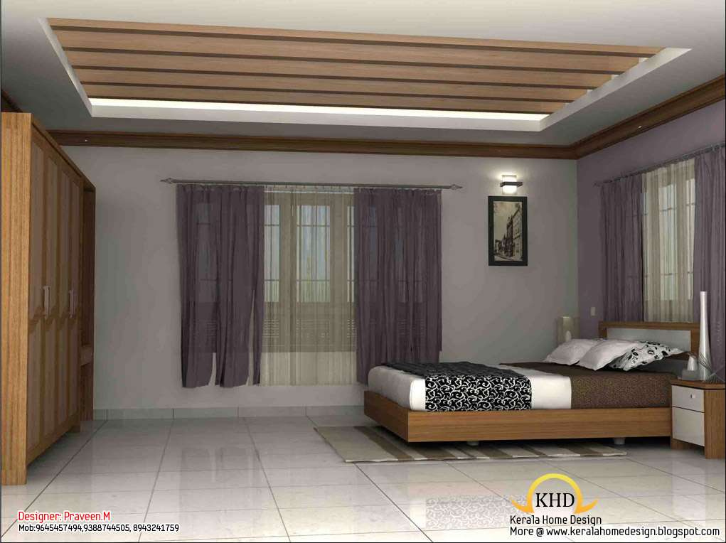 3D interior designs - Kerala home design - Architecture house plans