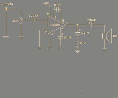 Circuitos de amplificadores, aquí hay variedad de potencias